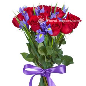 Rose & Iris Bouquet